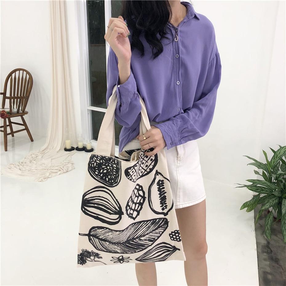 Leaf Printed Shopping Bag