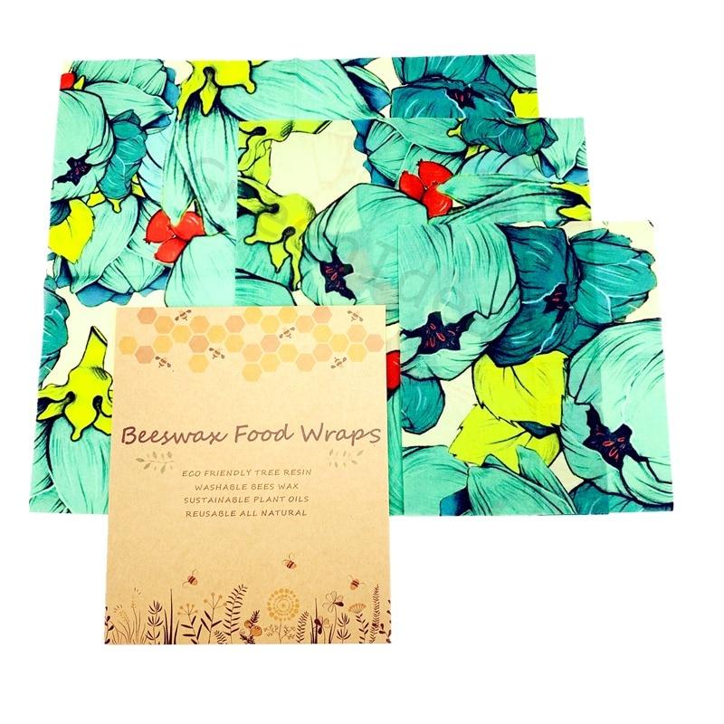 Colorful Reusable Beeswax Food Wrap