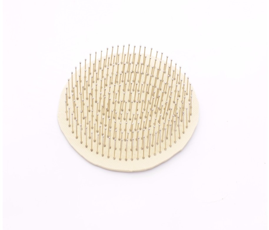 Bamboo Hair Brush with Massage Steel Bristle