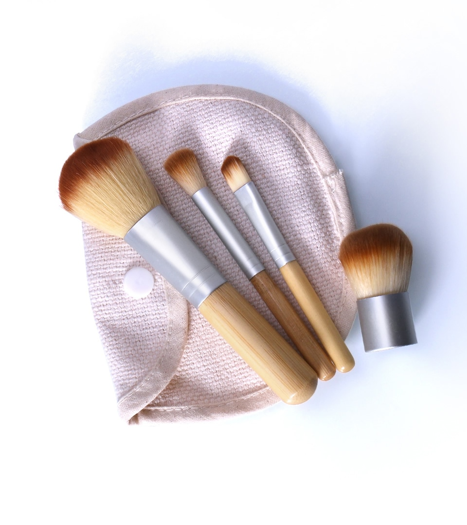 Bamboo Makeup Brushes Set